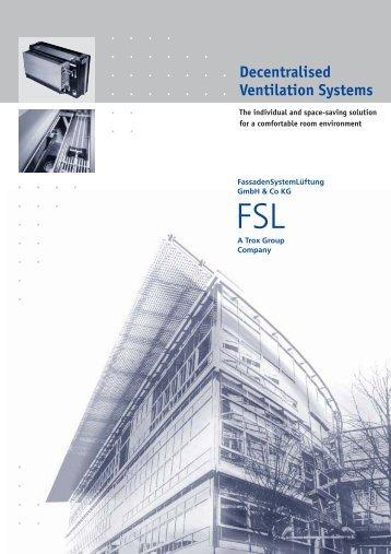 Product Summary Decentralised Ventilation Systems Emco Klima