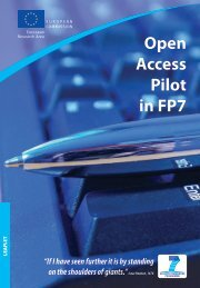 Open Access Pilot in FP7 - OpenAIRE