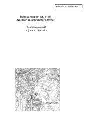 Bebauungsplan 1145 - Begründung zur Offenlage - Stadt Wuppertal