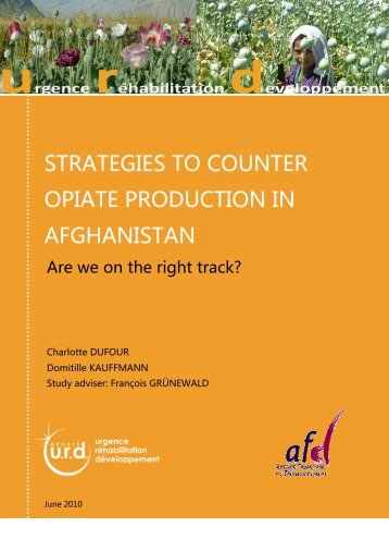strategies to counter opiate in Afghanistan - Groupe URD
