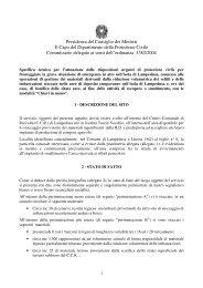 Relazione tecnica - Dipartimento della Protezione Civile