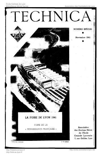 Revue Technica, année 1941, numéro spécial 1 - Histoire de l'École ...