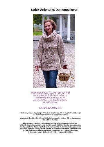 Strick-Anleitung: Damenpullover - Wunderweib