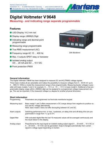 V9648-V1_31-01- Prospekt - Martens Elektronik GmbH