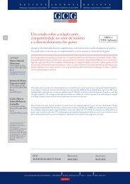 Um estudo sobre a relação entre competitividade no setor de ...