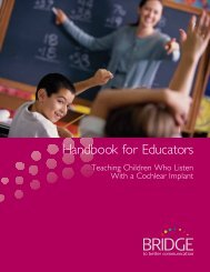 Handbook for Educators: MED-EL; The Cochlear Implant