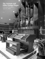 to view the full organ dedication program. - Trinity Christian College
