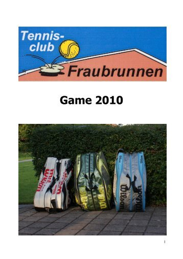 Game 2010 - TC Fraubrunnen