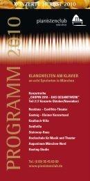 Programm Herbst 2010 - Pianistenclub eV