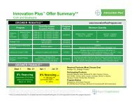 "Innovation Plusâ""¢ Offer Summary for field use to KR 12.3.11"