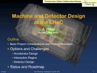 Machine and Detector Design - Elementary Particle Physics Group