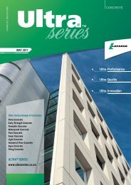 Ultra Performance Ultra Quality Ultra Innovation - Lafarge in South ...