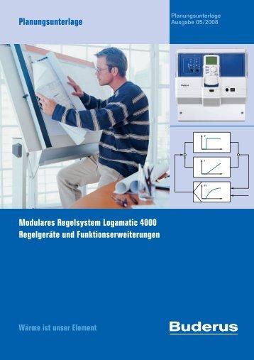 PU Logamatic screen - Buderus