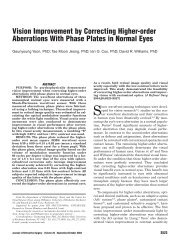 Vision Improvement by Correcting Higher-order Aberrations With ...