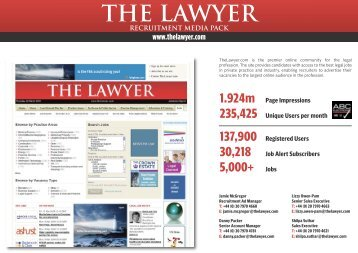 Online Recruitment media pack - The Lawyer