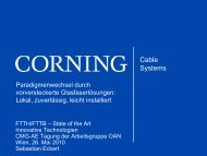 Corning Cable Systems Blue Cover PowerPoint Template - FEEI