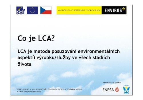 Posuzování životního cyklu LCA