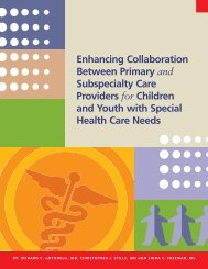 Enhancing Collaboration Between Primary and Subspecialty Care ...