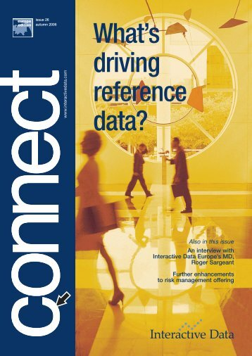 What's driving reference data? - Interactive Data Corporation