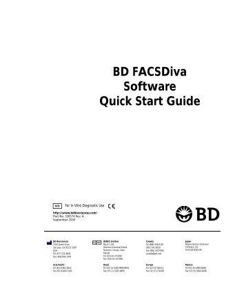 BD FACSDIVA SOFTWARE REFERENCE MANUAL PDF
