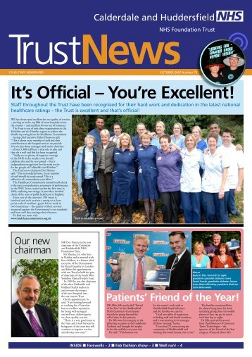 It's Official – You're excellent! - Calderdale and Huddersfield NHS ...