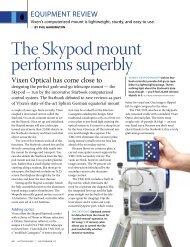 The Skypod mount performs superbly - Vixen Optics