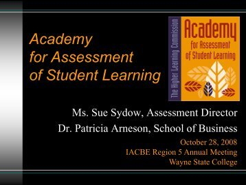 What is the Academy of Assessment - Wayne State College