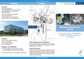 Flyer_WZU - WissenschaftsZentrum Umwelt - Universität Augsburg