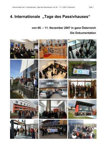 Dokumentation - Tage des Passivhauses 2007.pdf - Lang Consulting