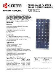 PV65 - PV75 - KYOCERA Solar