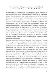 Die Politik der Ästhetik zum herunterladen, 295 KB - Kunstverein ...