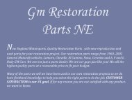 Gm Restoration Parts NE