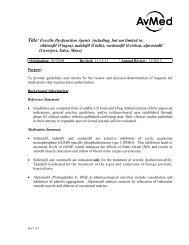 Erectile Dysfunction Agents - AvMed