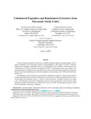 Unbalanced Expanders and Randomness Extractors from ...