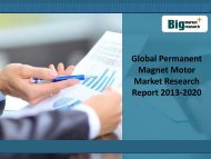 Analysis on Global Permanent Magnet Motor Market Research Report