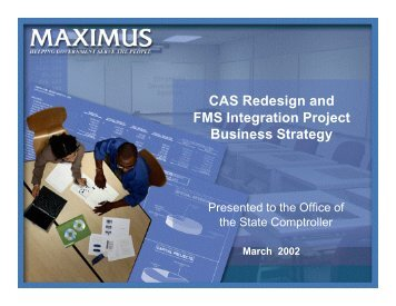 CAS Redesign and FMS Integration Project Business Strategy