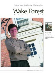 Wake Forest Magazine March 2000 - Past Issues - Wake Forest ...