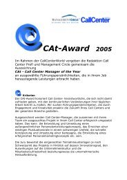 CAt-Award 2005 - Callcenter-Profi