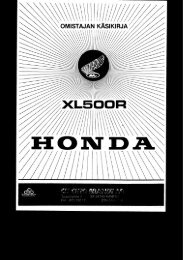 XL500R 1982 käsikirja (.pdf, 0.47 MB) - Honda
