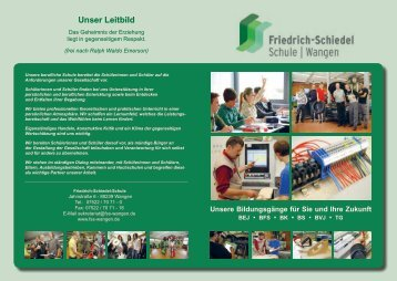 Überblick über die Schule - FSS-Wangen
