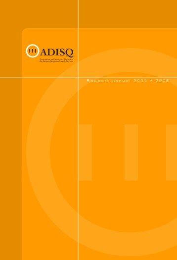 Rapport annuel 2004 • 2005 - Adisq