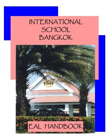 K_12 EAL Handbook - International School Bangkok