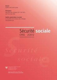 Sécurité sociale CHSS 2/2012 - admin.ch