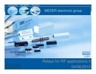 Reed Relays for RF Applications Part II  - MEDER electronic