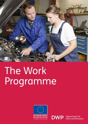 The Work Programme - Department for Work and Pensions