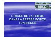 L'IMAGE DE LA FEMME DANS LA PRESSE ÉCRITE TUNISIENNE