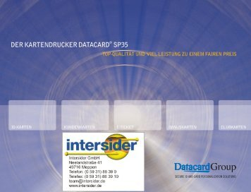 Datacard® SP35 - Fis Organisation GmbH