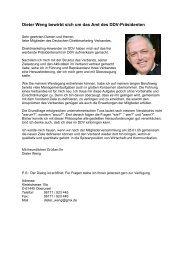 Dieter Weng bewirbt sich um das Amt des DDV ... - Callcenter-Profi