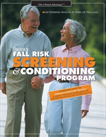 Data Sheet, Fall Risk Screening & Conditioning Program - Biodex
