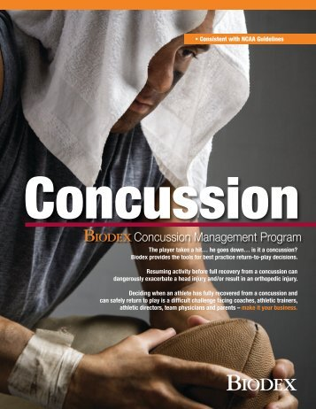 Brochure, Biodex Concussion Management Program